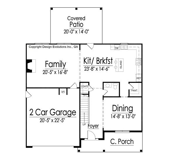 Gatford II house plan first floor