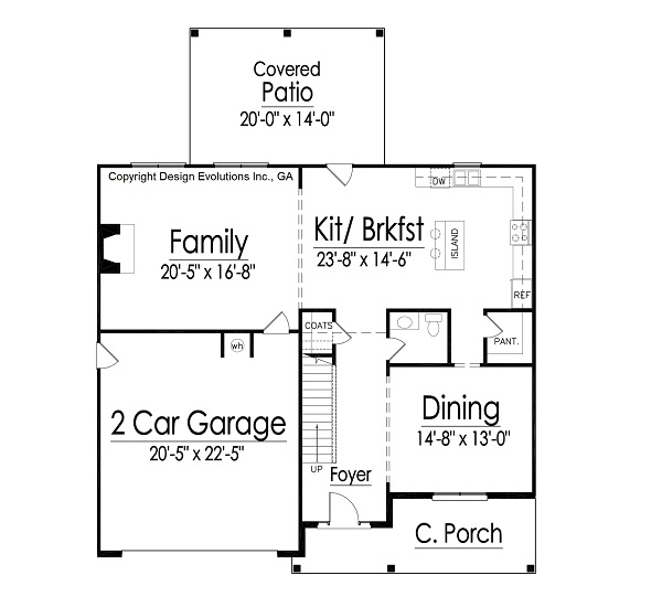 Gatford II house plan first floor