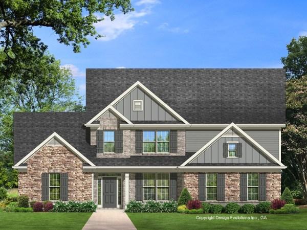 Frankford house plan elevation B