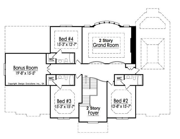 Lexington 2nd Floor Plan