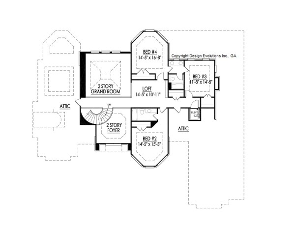 Wedale second floor plan