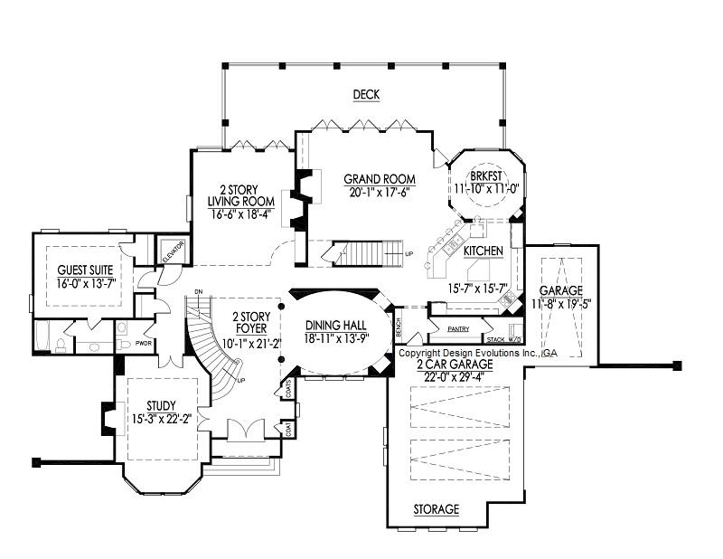 Edney II first floor plan