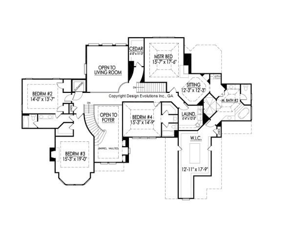 Edney II second floor plan