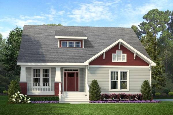 Wesley house plan rendering