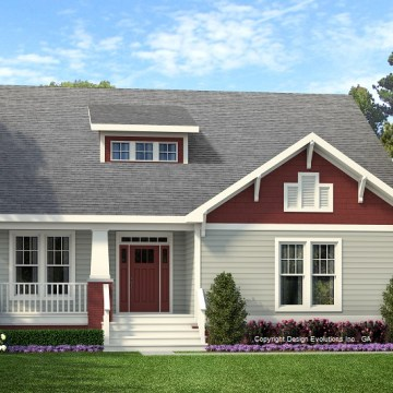 Wesley house plan rendering
