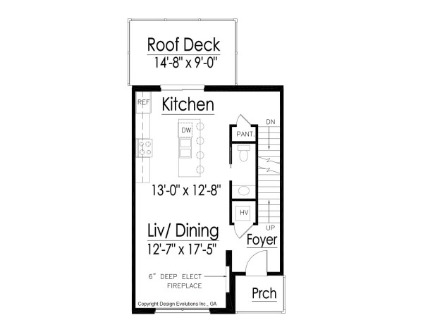 shed roof home floor plan