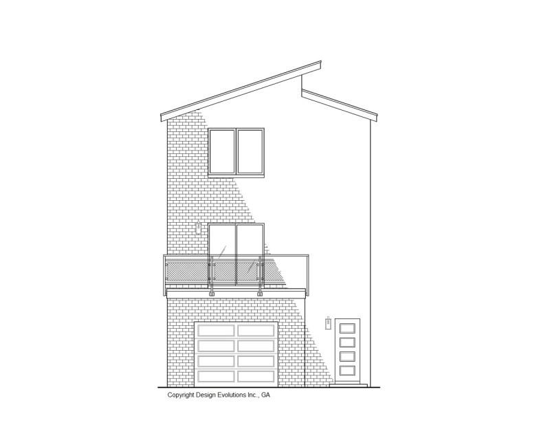 Modern shed roof rear elevation