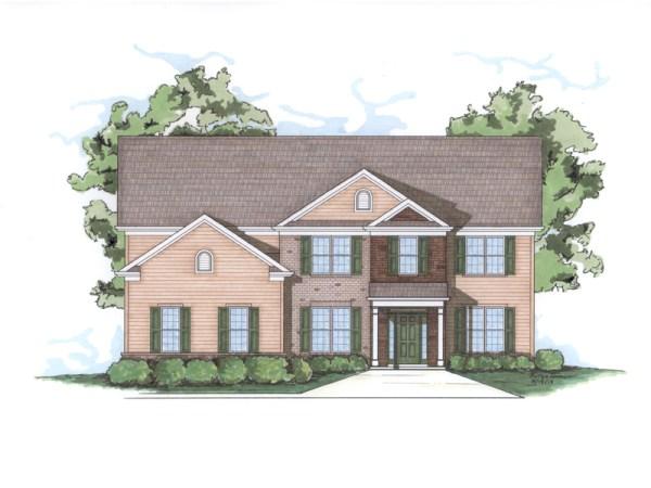 Ashton house plan front elevation