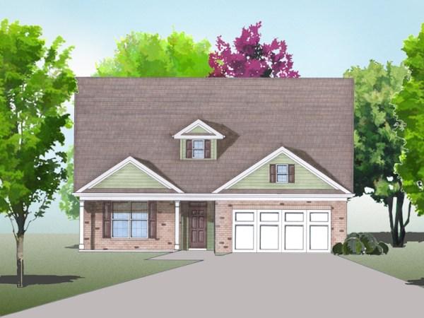 Bellwood house plan rendering