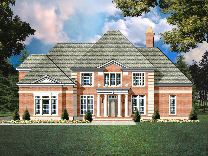 Blanchard colonial house plan