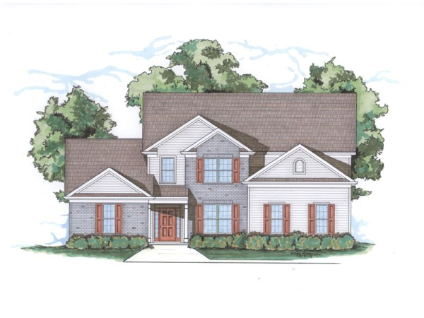 Boxley house plan rendering