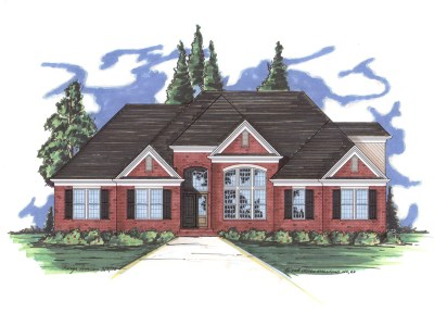 Collins house plan rendering