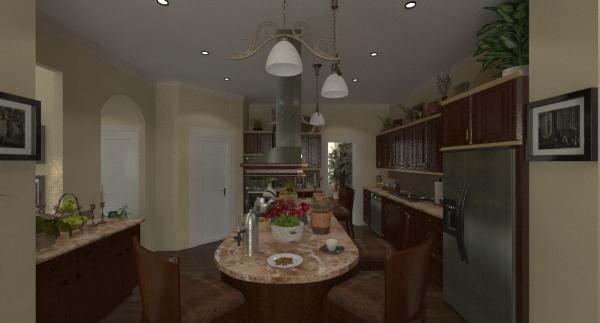 Lexington kitchen rendering