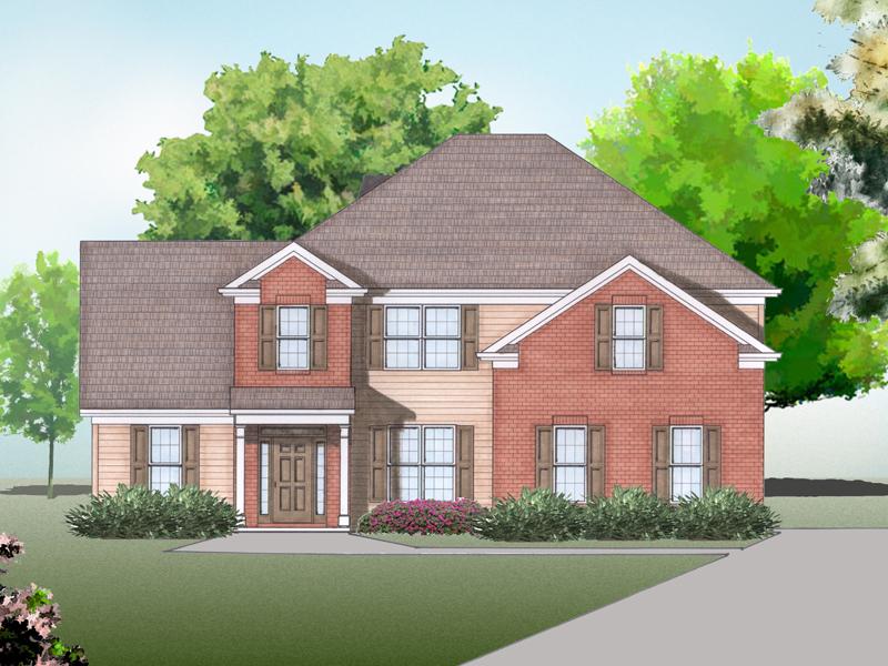 Dudley house plan rendering