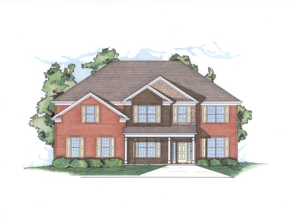 Montana house plan rendering