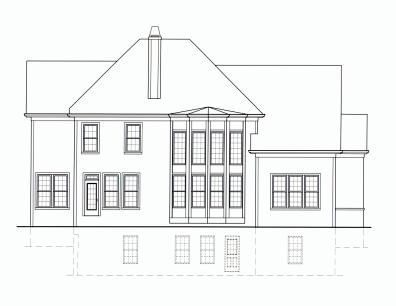 Faulkner-A rear elevation