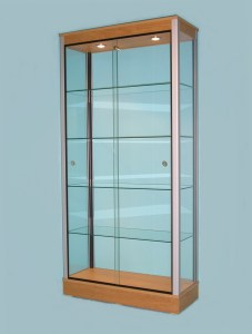 Oak Glass Display Cabinets for Shops