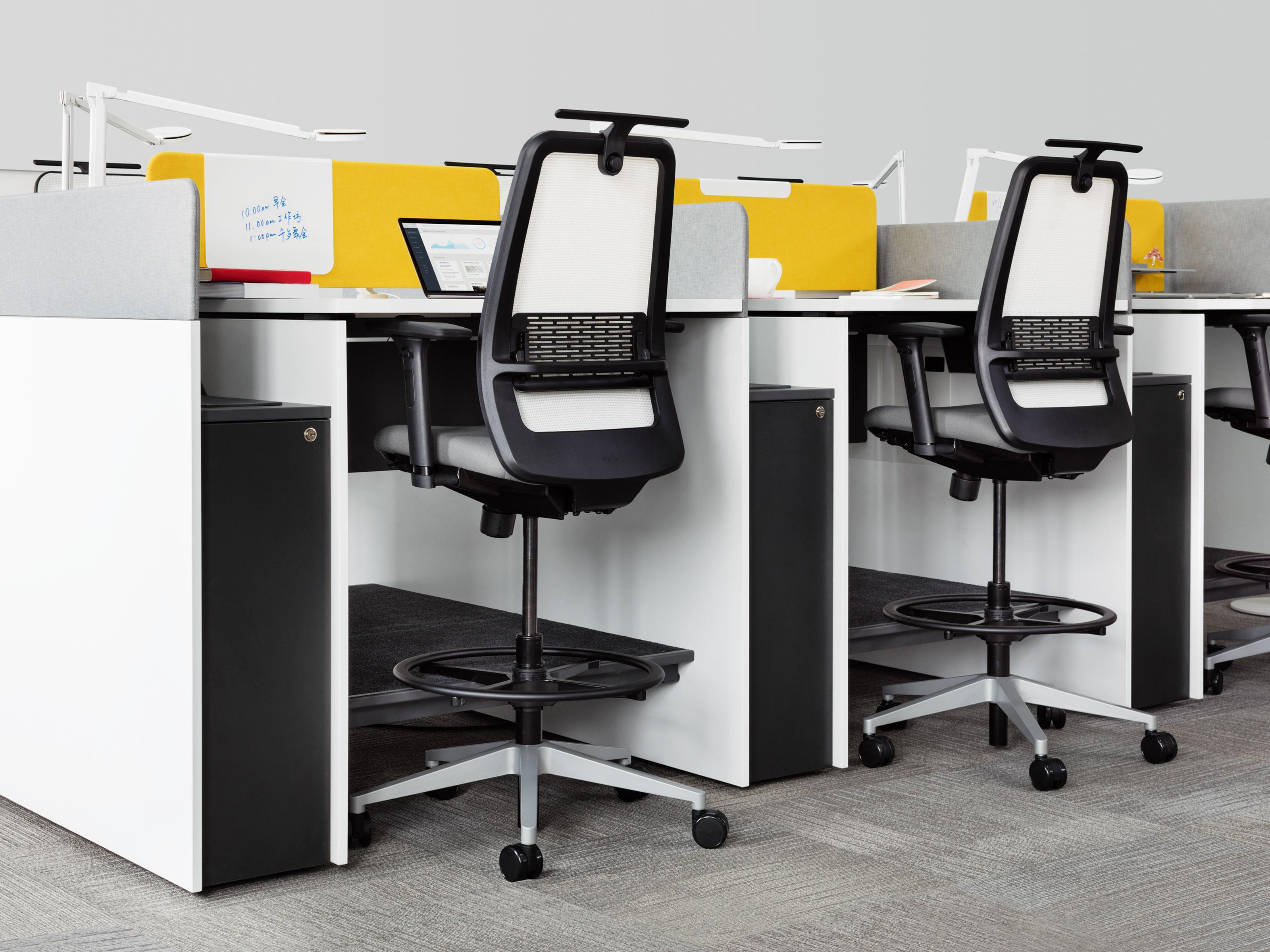 office chair that sits higher indoor swing chairs uk steelcase navi team island designfarm