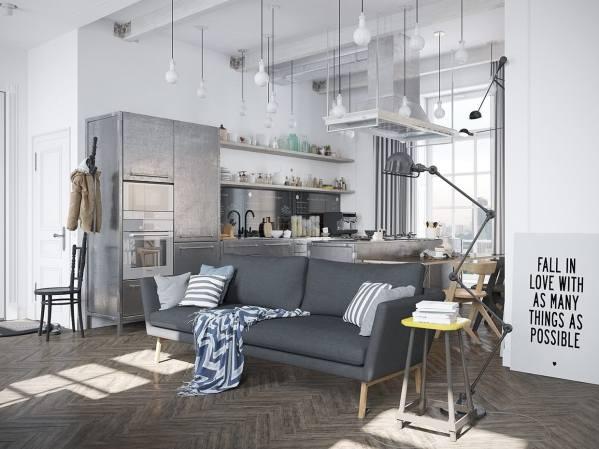 Scandinavian Apartment With Industrial Elements