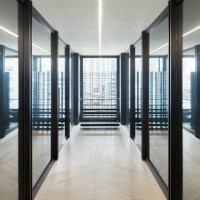 Nendo designs a café and office inside Kenzo Tange's Sogetsu Kaikan