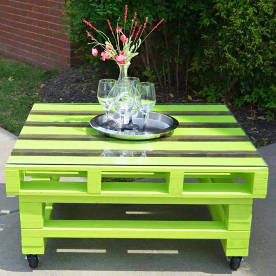 Exemples de meubles en palettes de bois  Relooker meubles
