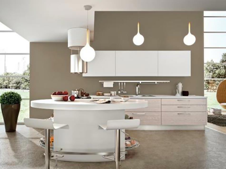 Cuisine Design Moderne En Blanc Par Cucinelube