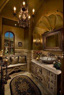 Mediterranean Tuscan Bathroom