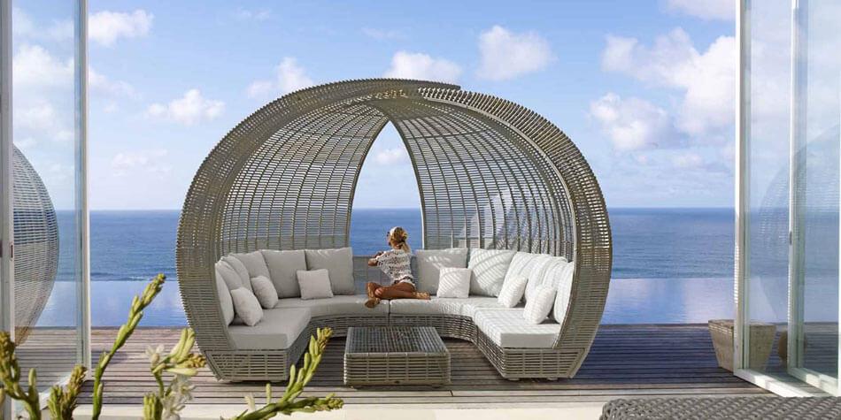 lit de jardin design