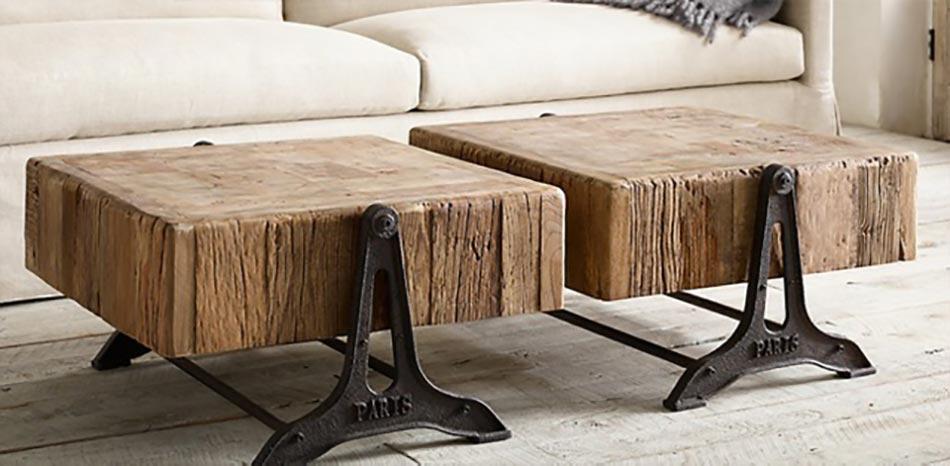 Table Basse Design R Nov E Bois Et Fer