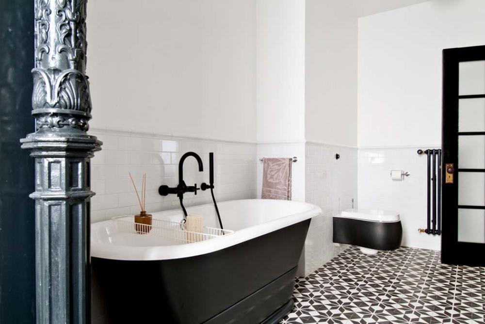 Carrelage Design A Linspiration Geometrique Pour La Salle De Bains