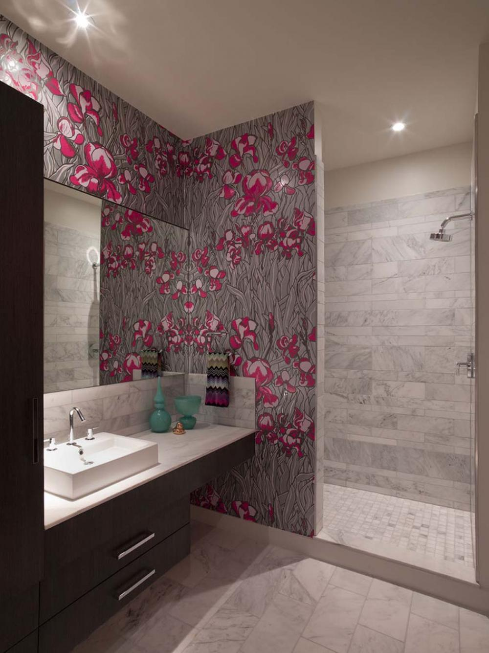 Modern Bathroom Wallpaper Ideas