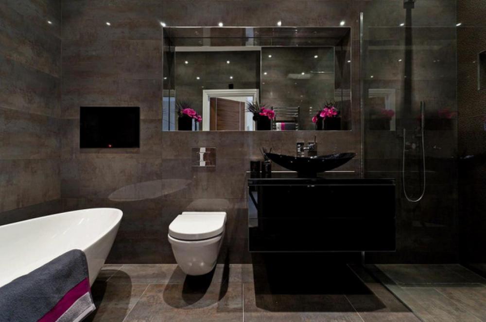 design deco sombre salle de bain