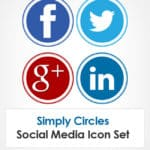 Simply Circles Social Media Icon Set