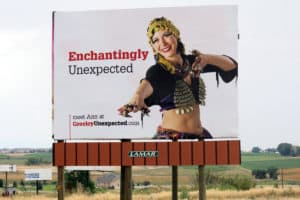 A Greeley: Unexpected billboard on Hwy 34 in Weld County