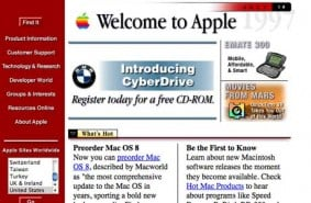 Apple screenshot from 1996