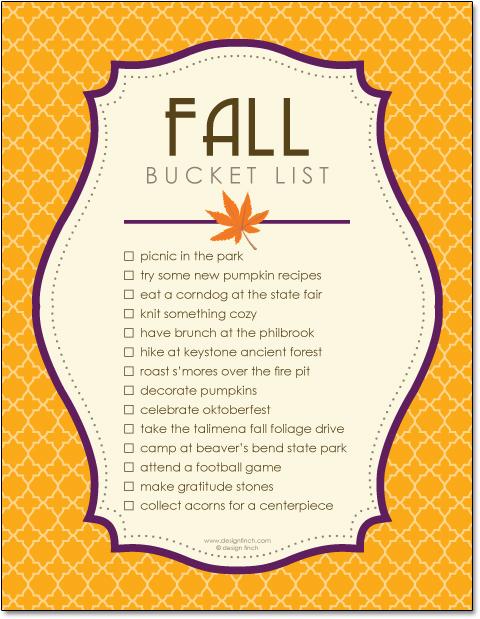 bucket list template