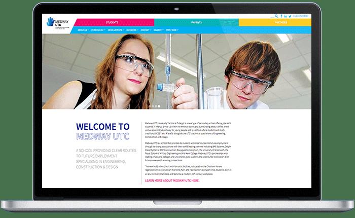 Design For Schools: Medway UTC College Website & Prospectus Design