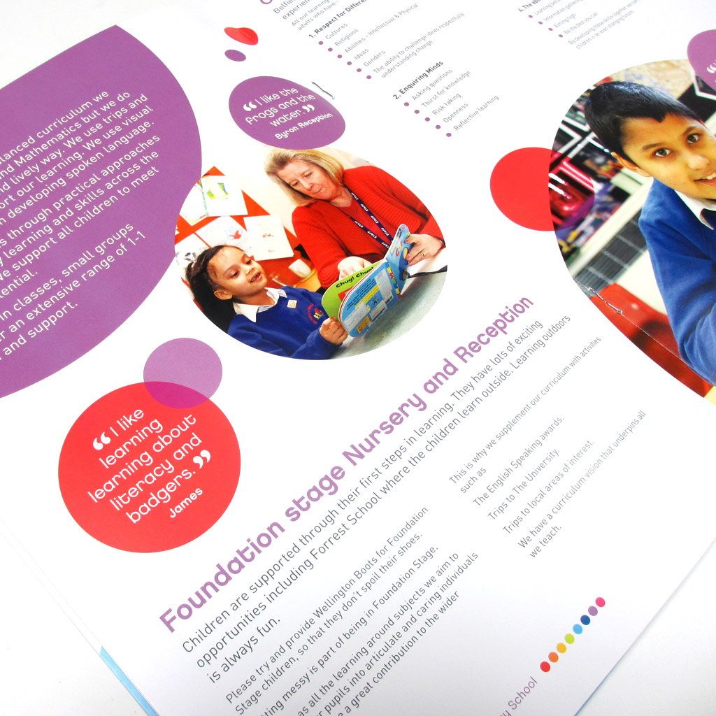 Belfield School Prospectus Design