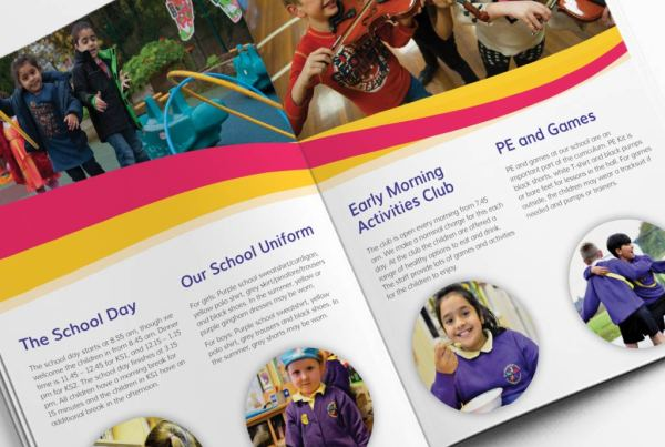 St John With St Mark Primary School Prospectus Design