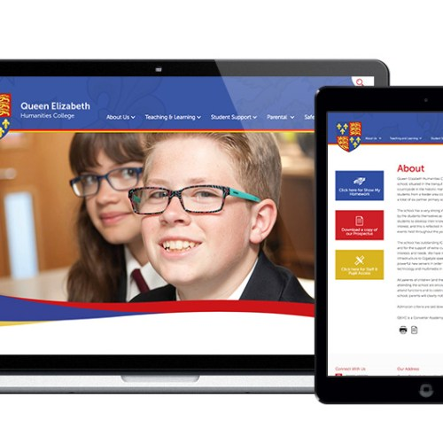 Queen Elizabeth Humanities College Website Design