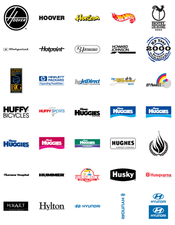 Free Vector Logos: Famous Company Logos and Trademarks – Letter H | Designfreebies