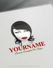free logo maker - black hair face