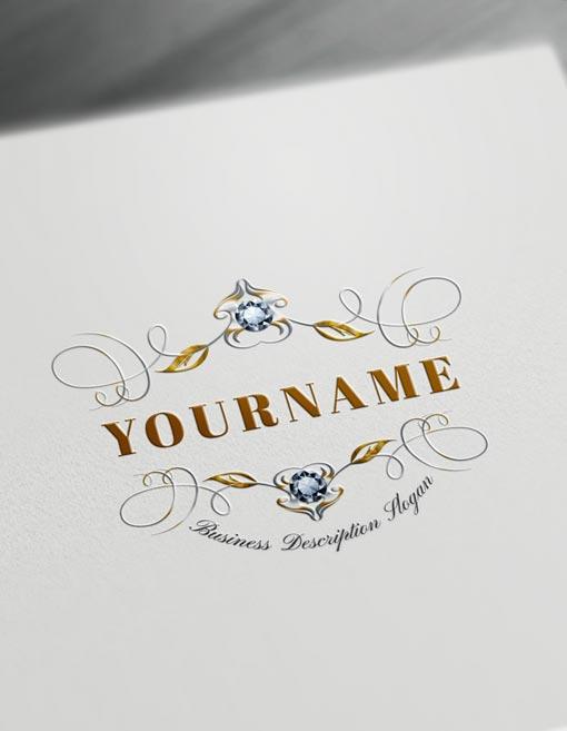 floral monogram maker design