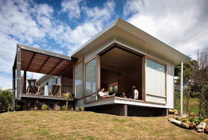 Prefabricated beach house.