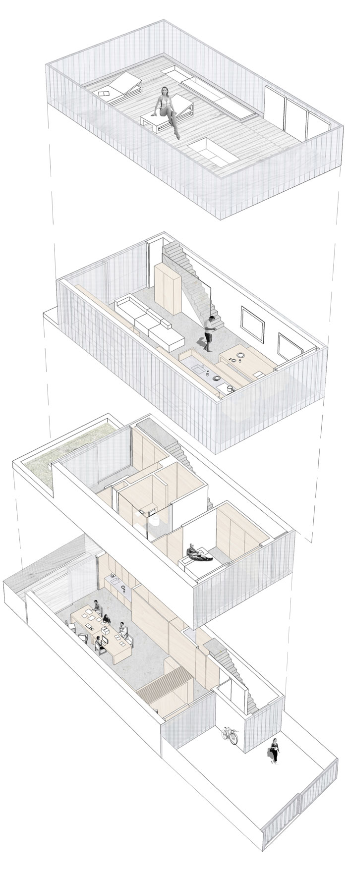Axonometric Floor Plans