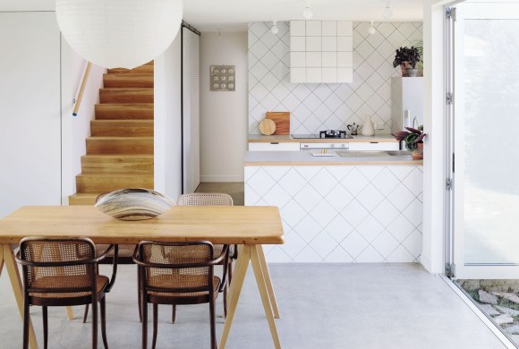 Kitchen design that integrates with the architecture