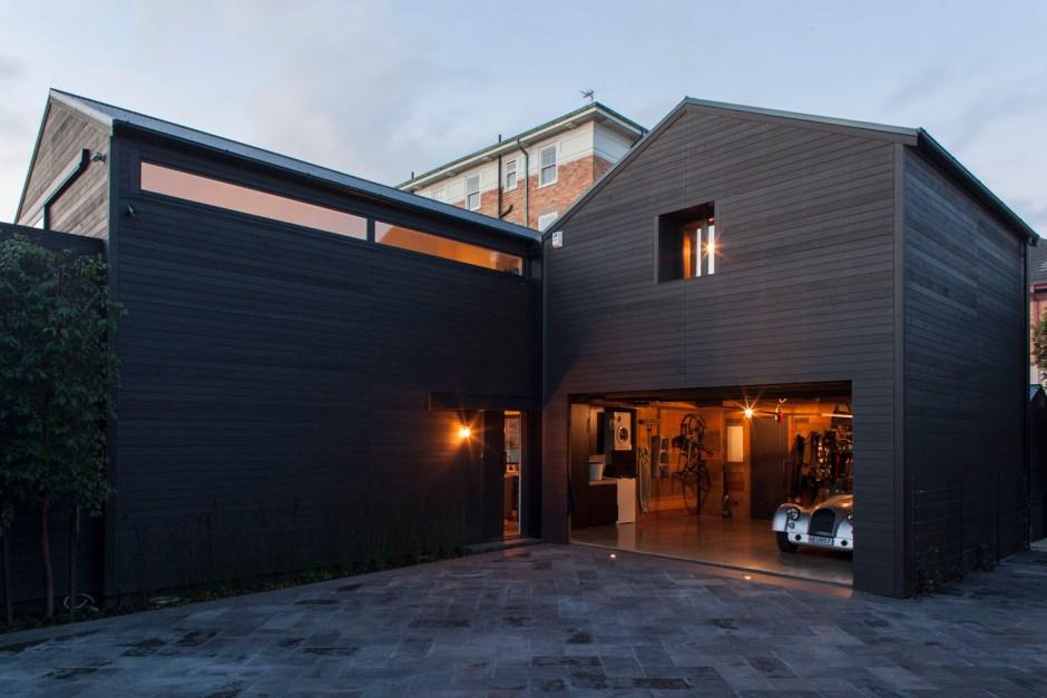 Richard Naish suburban house gable roofs make historic link to surrounding Victorian houses