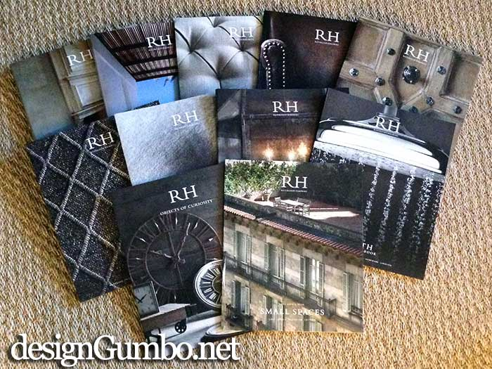 Restoration Hardware 2014 Product Lines -I'm loving the small spaces catalog