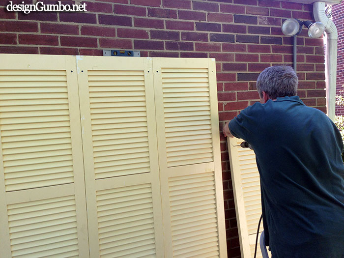 Hanging the Shutters
