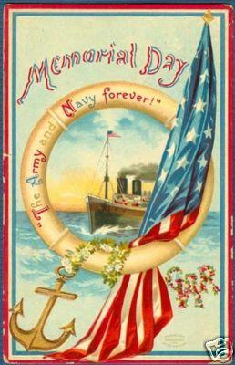 Vintage Memorial Day Postcard,